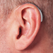 Behind-The-Ear Artificial Intelligence Hearing Aid on Ear
